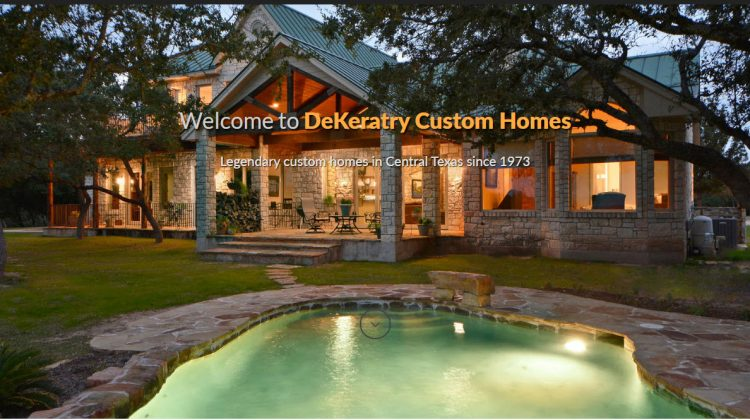 custom website for dekeratry homes