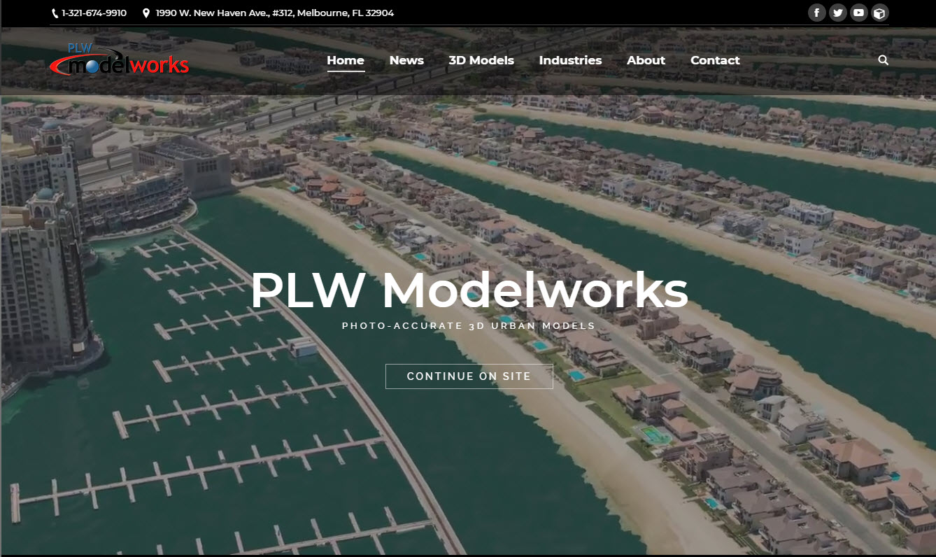 PLW Modelworks home page snapshot